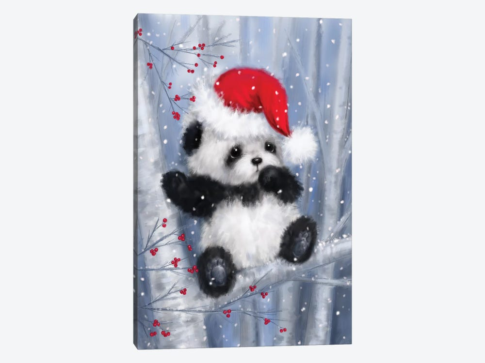 Christmas Panda by MAKIKO 1-piece Canvas Print