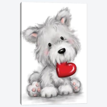 Dog Canvas Print #MKK63} by MAKIKO Canvas Artwork
