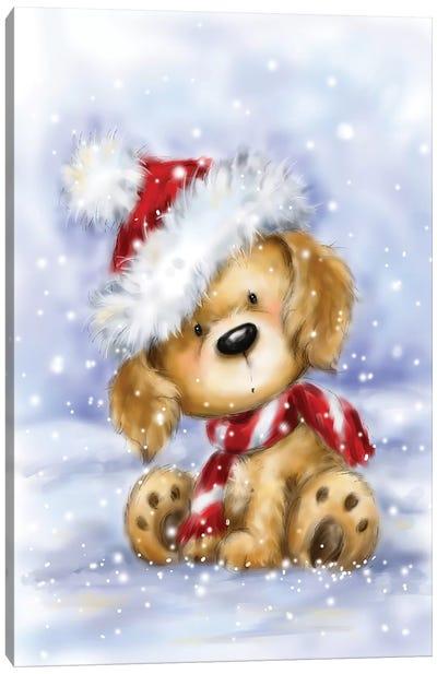 Dog With Santa's Hat I Canvas Art Print