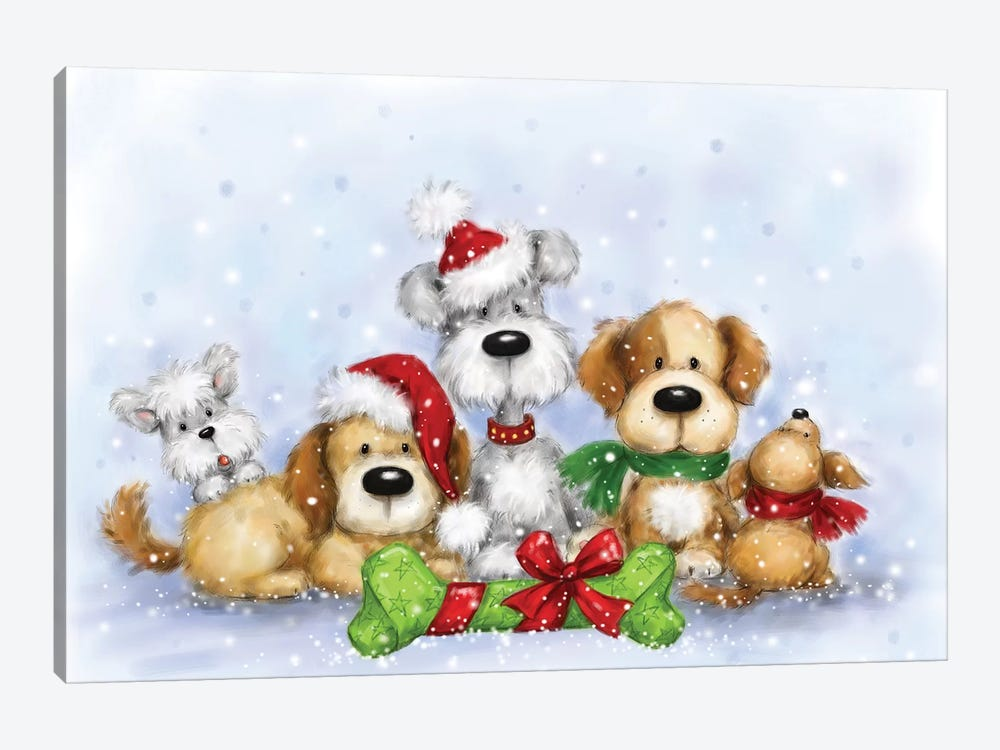 Dogs by MAKIKO 1-piece Canvas Print