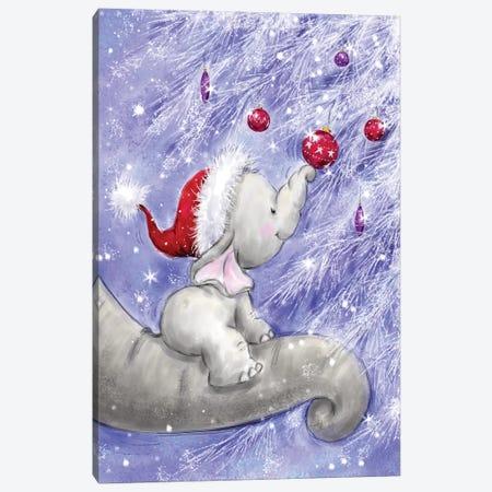 Elephant V Canvas Print #MKK87} by MAKIKO Canvas Art Print
