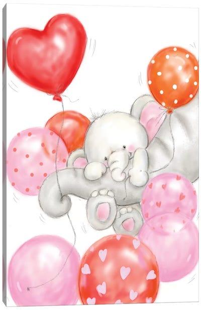 Elephants and Balloons Canvas Art Print