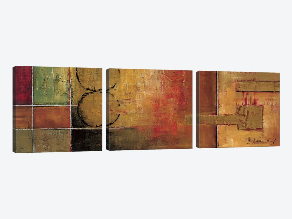 Harmony II by Mike Klung 3-piece Canvas Print