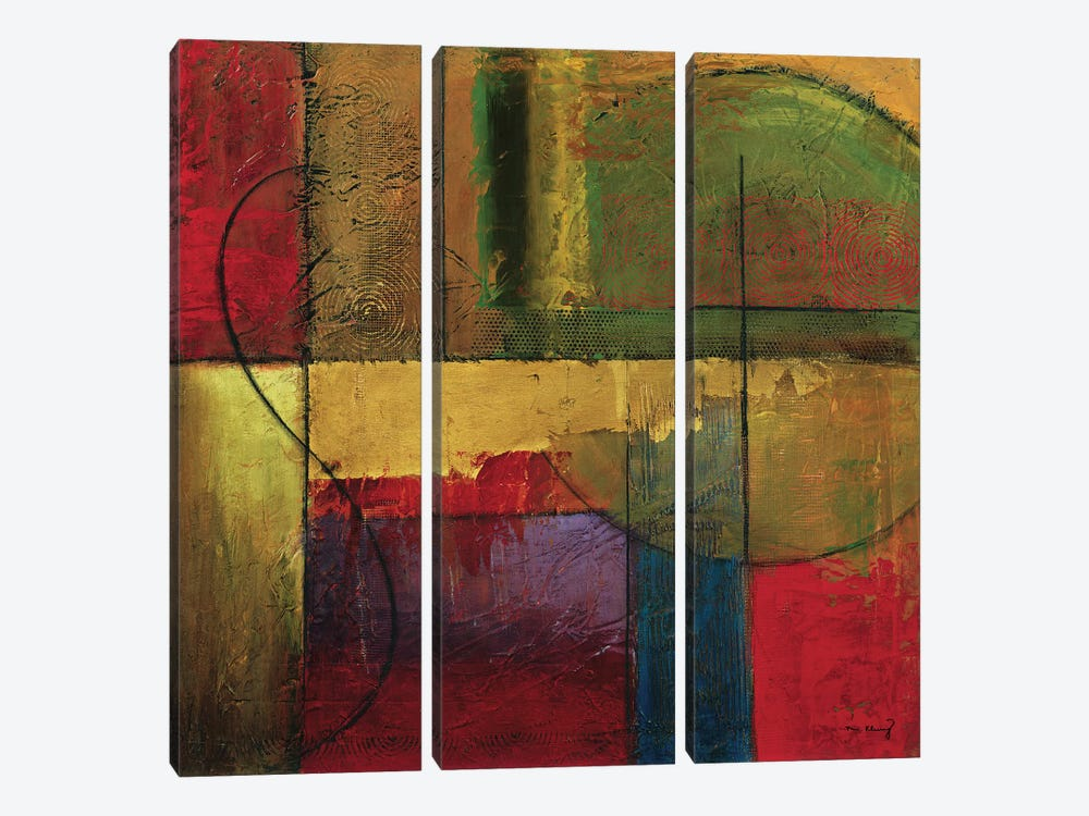 Opulent Relief I by Mike Klung 3-piece Canvas Artwork