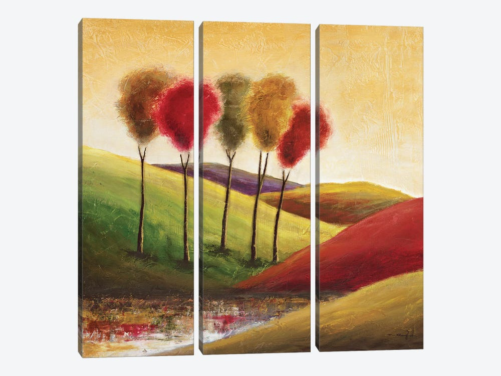 Endless Hills II by Mike Klung 3-piece Canvas Print