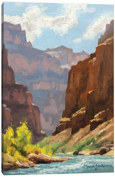 Receeding Cliffs Canvas Art Print