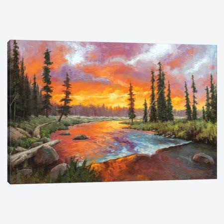 Sunset Bend Canvas Print #MKM22} by Mark McKenna Canvas Artwork