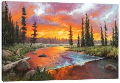 Sunset Bend Canvas Art Print