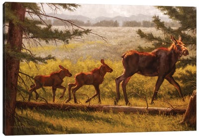 Double Caboose Canvas Art Print
