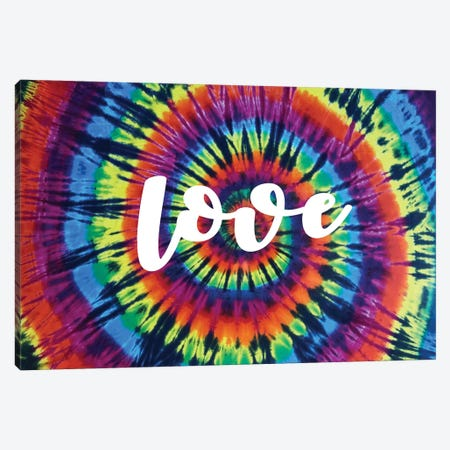 Tie Dye Rainbow Love I Canvas Print #MKN16} by Molly Kearns Canvas Print