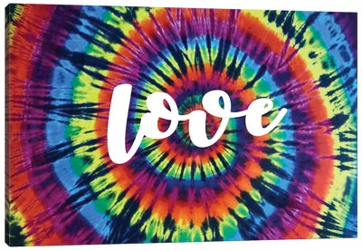 Tie Dye Rainbow Love I Canvas Art Print