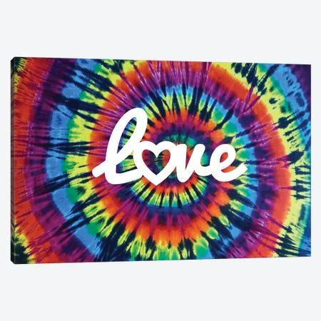 Tie Dye Rainbow Love II Canvas Print #MKN17} by Molly Kearns Canvas Art Print