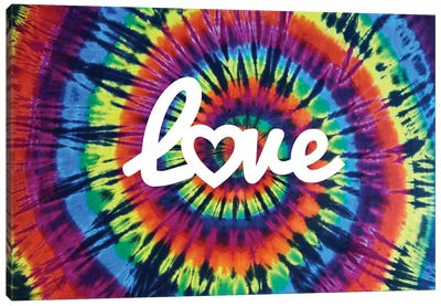 Tie Dye Rainbow Love II Canvas Art Print