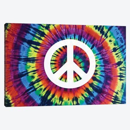 Tie Dye Rainbow Peace Sign 3-Piece Canvas #MKN18} by Molly Kearns Canvas Artwork
