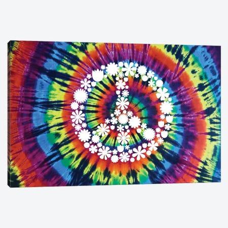 Tie Dye Rainbow Peace Sign II 3-Piece Canvas #MKN19} by Molly Kearns Canvas Art