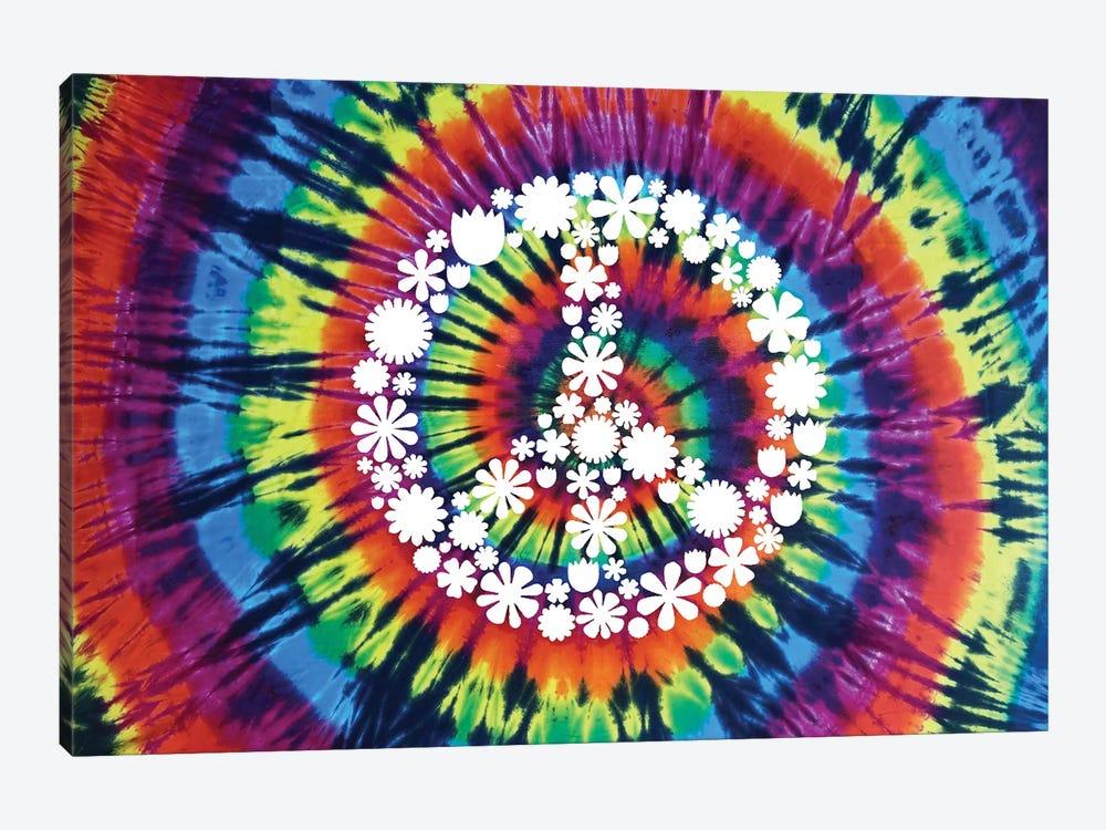 Tie Dye Rainbow Peace Sign II by Molly Kearns 1-piece Canvas Print