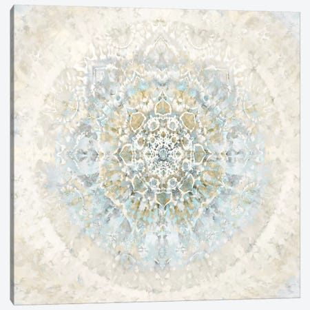 Tapestry Aqua Blue 3-Piece Canvas #MKN1} by Molly Kearns Canvas Print
