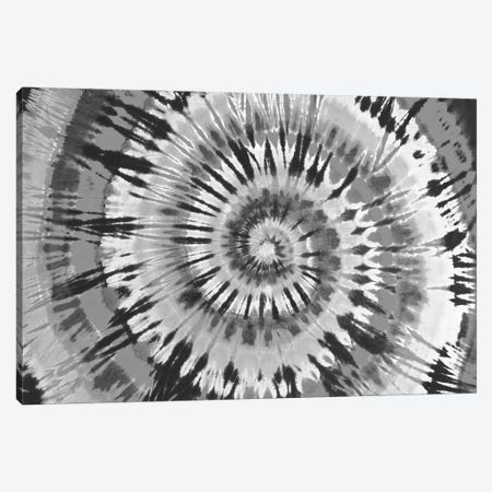 Tie Dye Black and White Canvas Print #MKN6} by Molly Kearns Canvas Artwork