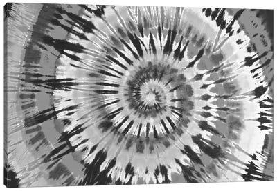 Tie Dye Black and White Canvas Art Print
