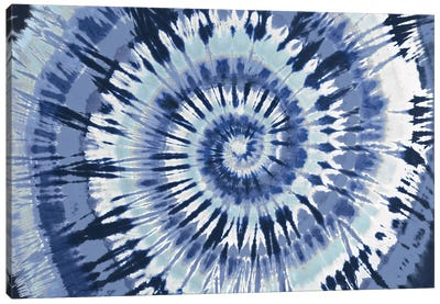Tie Dye Blue Canvas Art Print