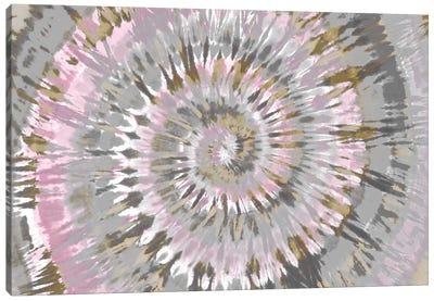 Tie Dye Blush Pink Canvas Art Print
