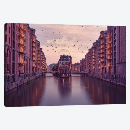City Of Warehouses Canvas Print #MKR5} by Mike Kreiten Canvas Print