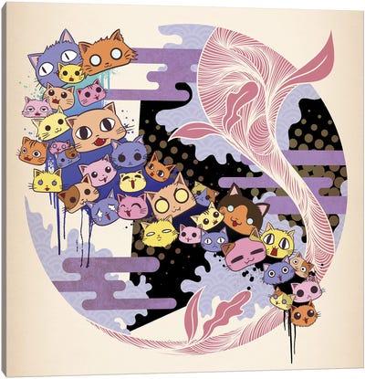 Kitty Cat Night Canvas Art Print