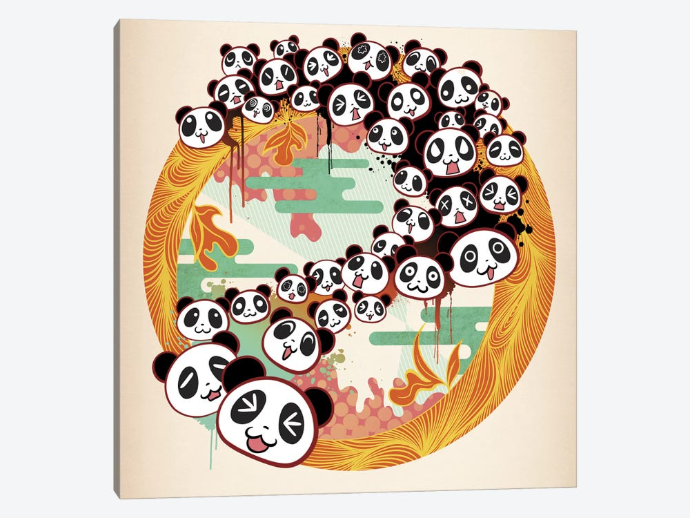 Panda Swirl by 5by5collective 1-piece Canvas Artwork