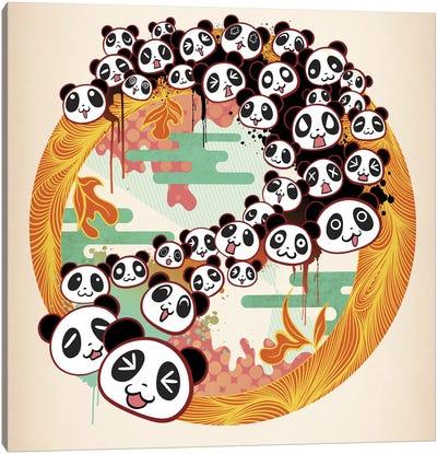 Panda Swirl Canvas Art Print