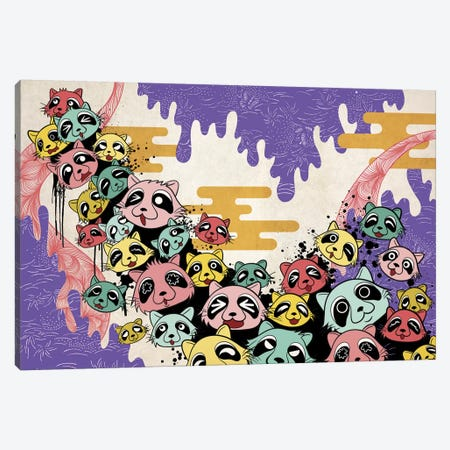 Raccoon Avalanche Canvas Print #MKS13} by 5by5collective Art Print