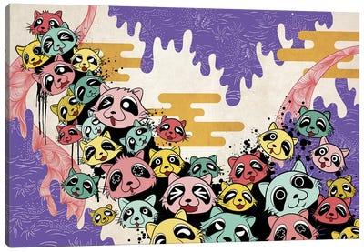 Raccoon Avalanche Canvas Art Print