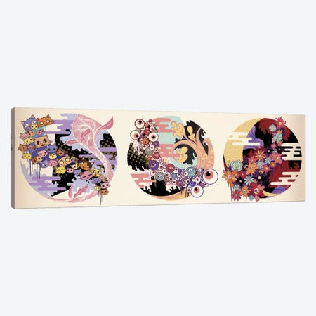 Triple Fun Canvas Print #MKS15} by 5by5collective Canvas Art