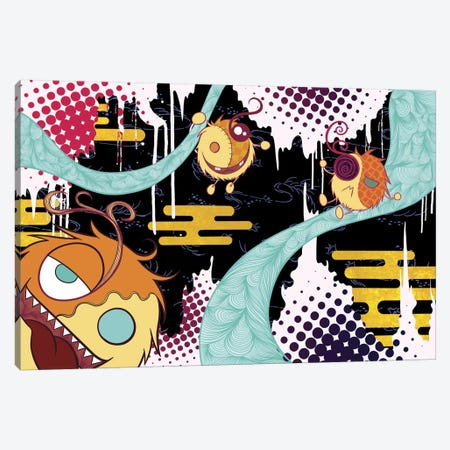 Strolling Furballs Canvas Print #MKS5} by 5by5collective Canvas Art