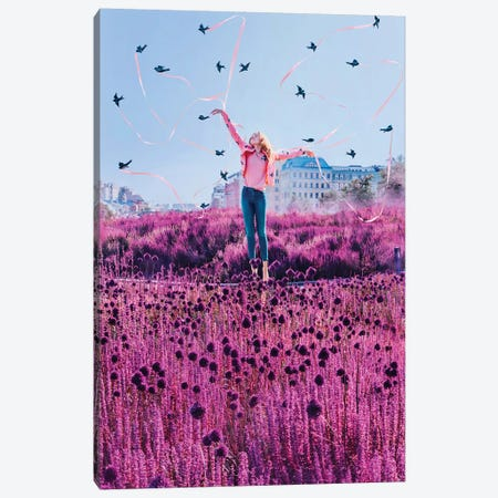Swallows Canvas Print #MKV100} by Hobopeeba Canvas Art