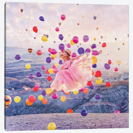 When You Need More Balloons For Flight Canvas Print #MKV128} by Hobopeeba Canvas Art