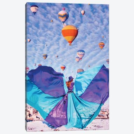 Blue Butterfly Canvas Print #MKV12} by Hobopeeba Canvas Artwork