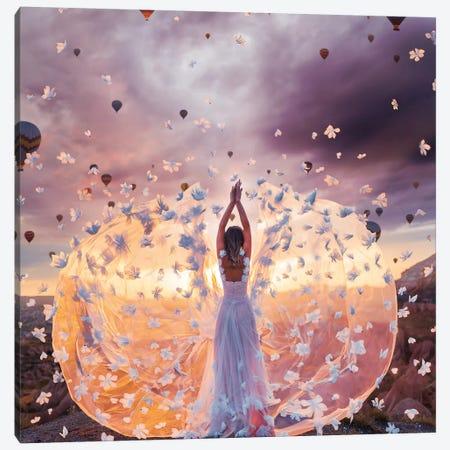 Flowers Thunderstorms In Cappadocia Canvas Print #MKV140} by Hobopeeba Canvas Wall Art