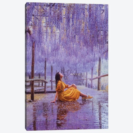 This Rain Is Like Perfume With Wisteria Taste Canvas Print #MKV153} by Hobopeeba Art Print