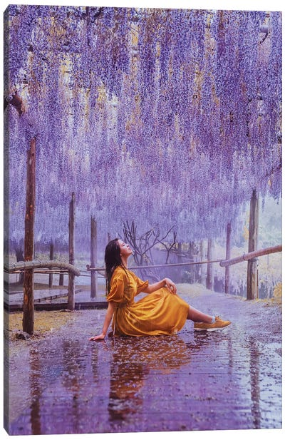 This Rain Is Like Perfume With Wisteria Taste Canvas Art Print