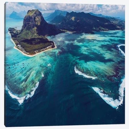 Underwater Waterfall Canvas Print #MKV154} by Hobopeeba Canvas Art
