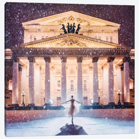 Bolshoi Theatre Canvas Print #MKV15} by Hobopeeba Art Print