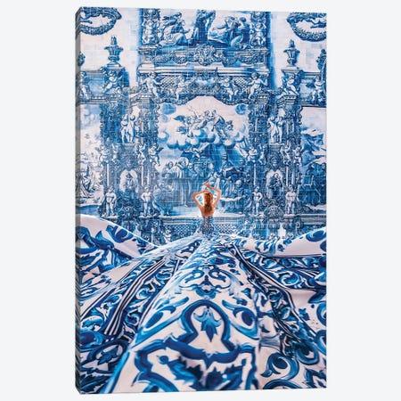 Azulejo Dream Canvas Print #MKV160} by Hobopeeba Canvas Wall Art