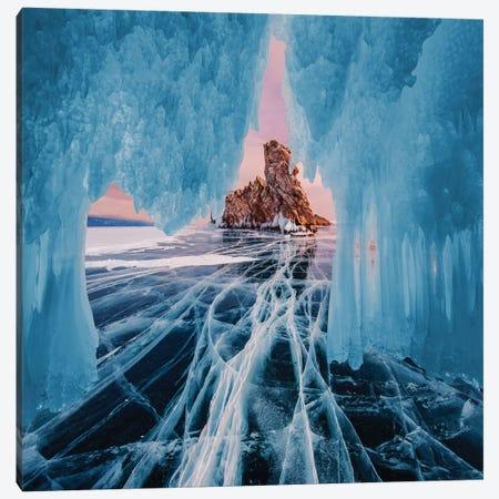 Frozen Lake Baikal I Canvas Print #MKV176} by Hobopeeba Canvas Wall Art