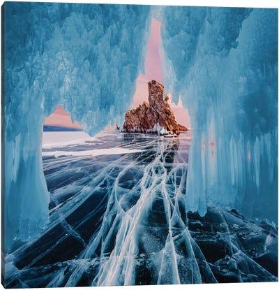 Frozen Lake Baikal I Canvas Art Print