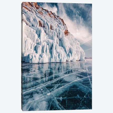 Frozen Lake Baikal II Canvas Print #MKV177} by Hobopeeba Canvas Art