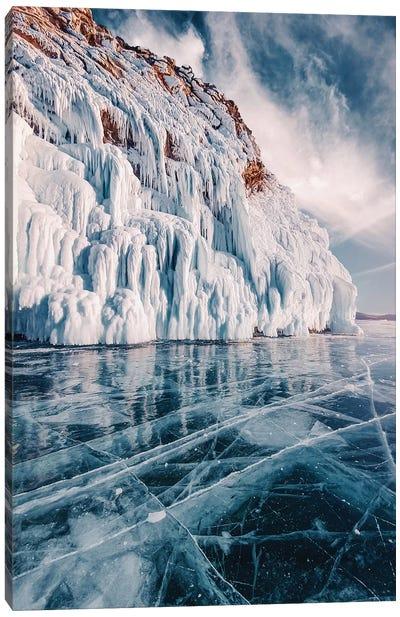 Frozen Lake Baikal II Canvas Art Print