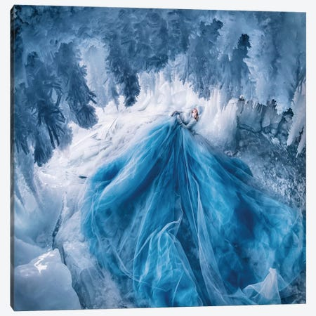 Ice Cave With Shaggy Icicles Canvas Print #MKV178} by Hobopeeba Canvas Print