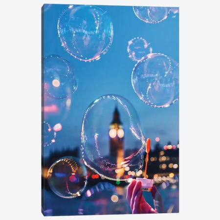 Bubble Ben Canvas Print #MKV17} by Hobopeeba Canvas Print