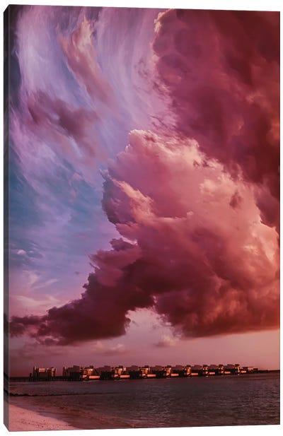 Monet Style Dawn In The Maldives Canvas Art Print
