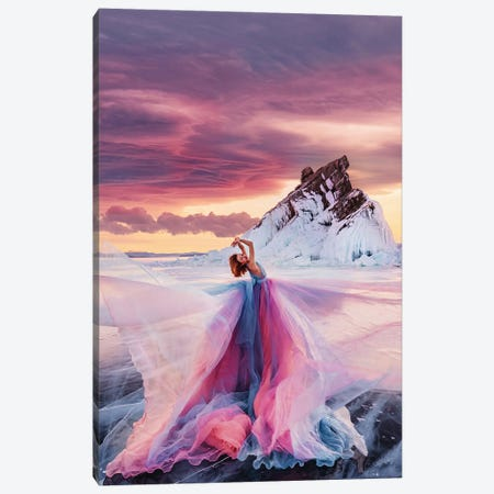 Lady Sunset Canvas Print #MKV186} by Hobopeeba Canvas Art Print